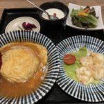 天津飯と海老マヨランチ