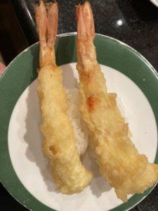 赤海老の天ぷら寿司