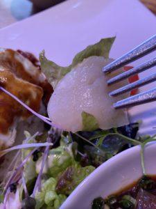 ホタテと生ハムのサラダ