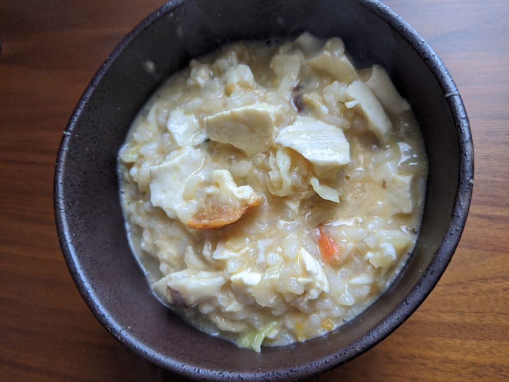 鯛と豆富雑炊