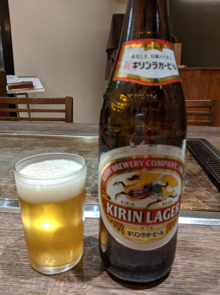 ひとりで乾杯ビール
