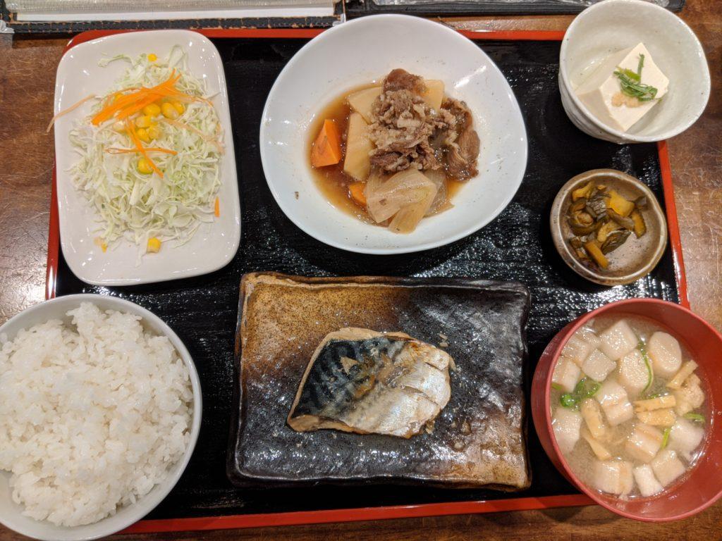 鯖生姜煮定食