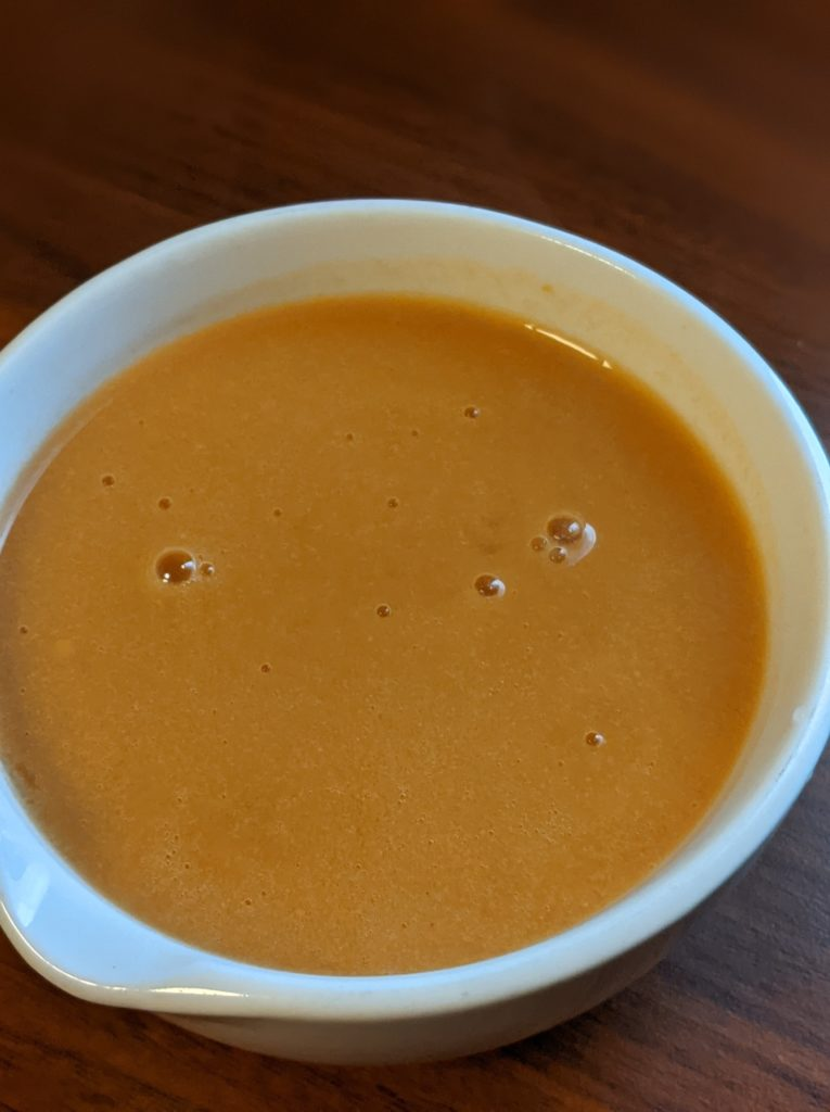 豆乳にんじんスープ