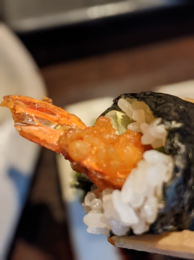 海老天寿司ランチ